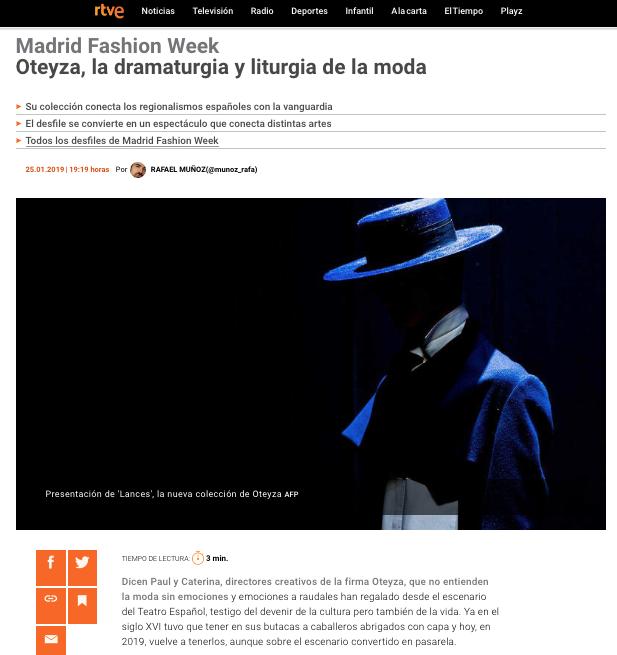 OTEYZA: la dramaturgia de la moda masculina