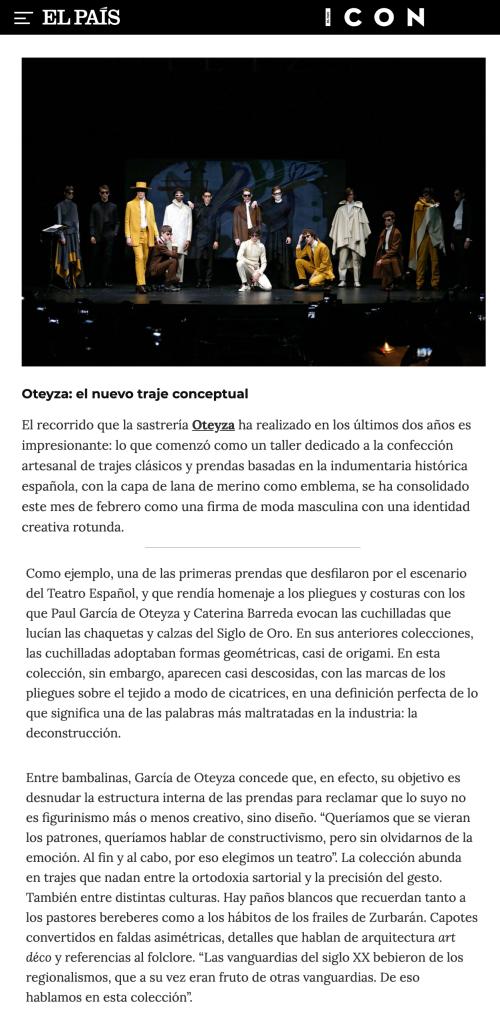 OTEYZA: la deconstrucción de la moda clásica española