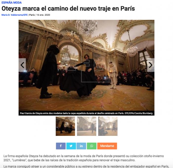 El universo de OTEYZA seduce París